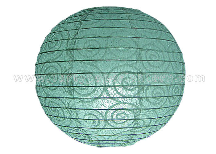 Eyelet Lace Look Round Paper Lanterns With Lights For Party