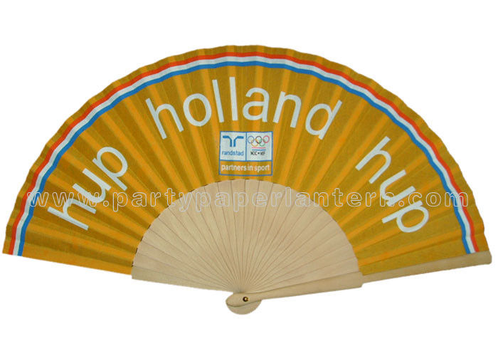 Promotion Gift Souvenirs Wooden Fans Wedding Personalised Hand