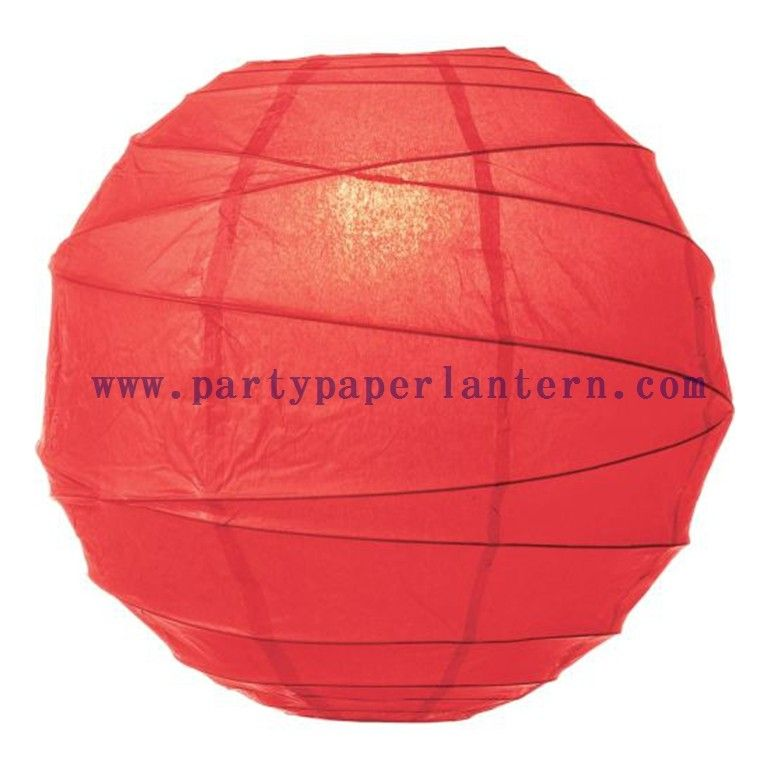 Poppy Red Paper Lantern For Parties Round Decorative